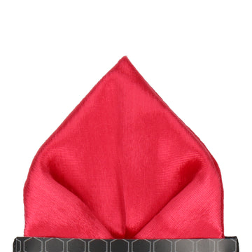 Silk Velvet in Red Pocket Square