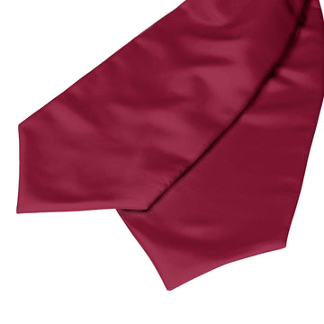 Plain Solid Bordeaux Red Ascot Cravat