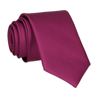 Plain Solid Mulberry Pink Tie