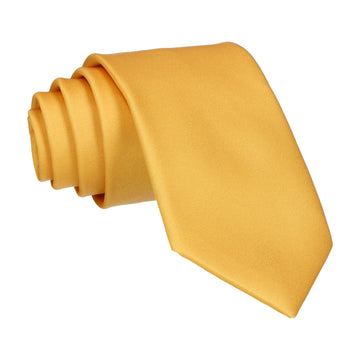 Plain Solid Mustard Gold Tie