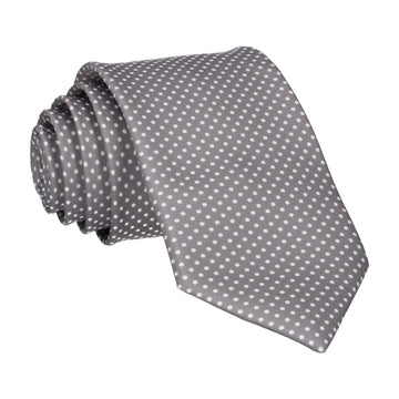 Thunder Grey Pin Dots Tie