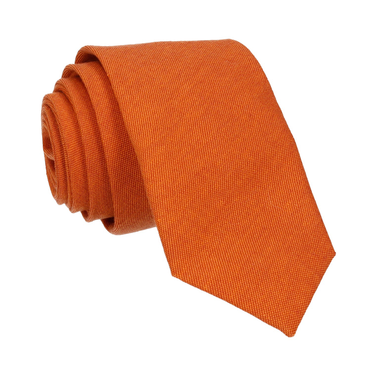 Cotton Burnt Orange Tie