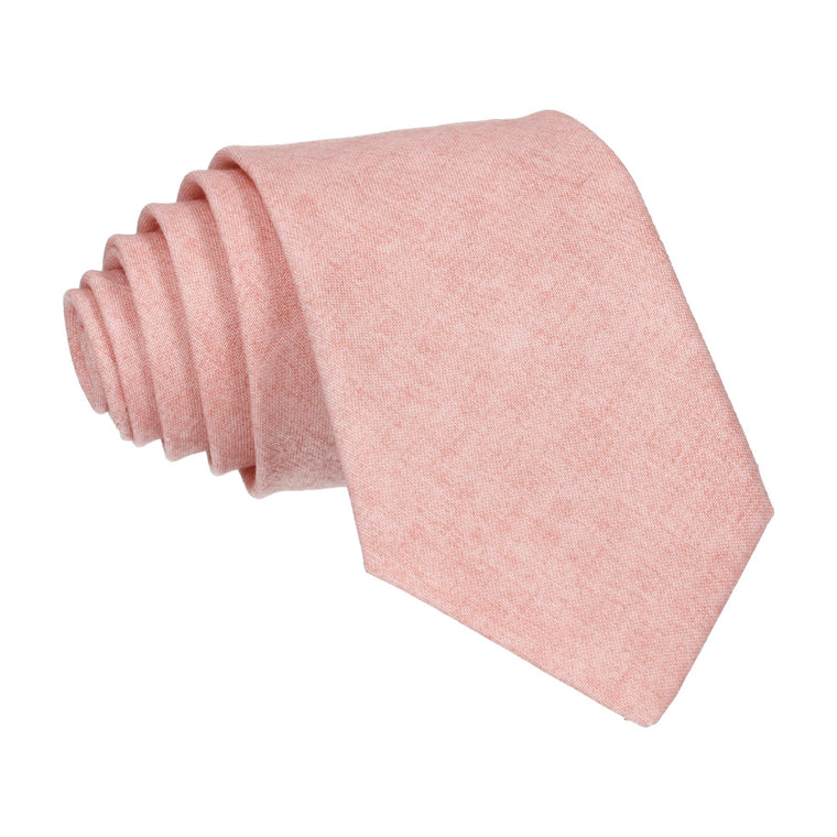 Cotton Salmon Marl Tie