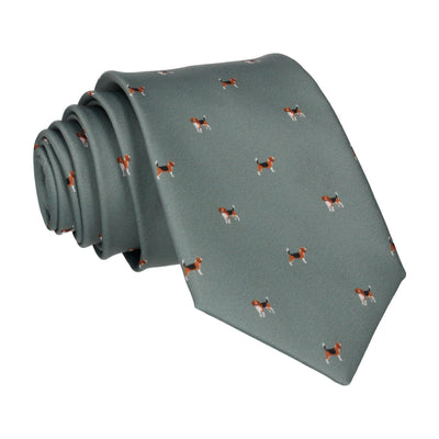 Country Green Beagles Print Tie