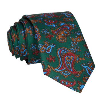 Dark Green Stylish Paisley Tie