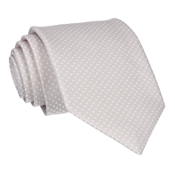 Pin Dots in Pure Silver Tie