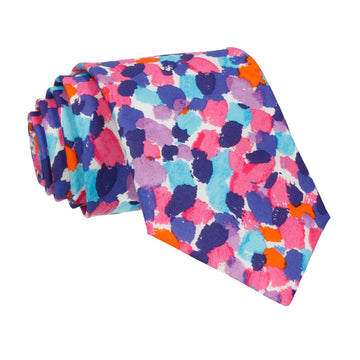 Pink Multi Morning Dew Liberty Cotton Tie