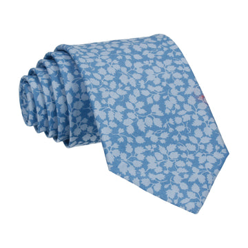 Blue Floral Glenjade Liberty Cotton Tie