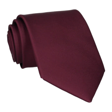 Plain Solid Carmine Red Tie