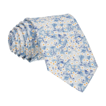 Light Blue Small Flower Mitsi Valeria Liberty Tie
