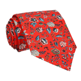 Blood Orange Floral Rousseau Liberty Tie