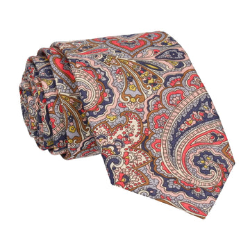 Blue & Pink Paisley Tessa Liberty Cotton Tie