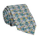 Teal Floral Tile Mosaic Liberty Tie