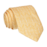 Yellow Boho Chevron Tie