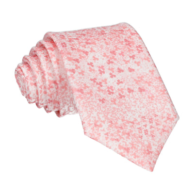 Peach Cherry Blossom Flower Tie