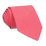 Salmon Pink Plain Textured Cotton Tie