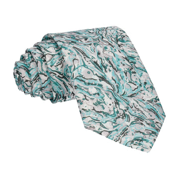 Grey & Cyan Liberty Cotton Tie