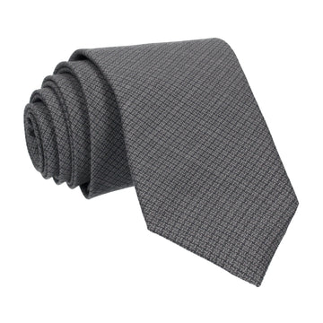Grey Tiny Check Tie