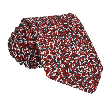Burgundy Red Pattern Cotton Tie
