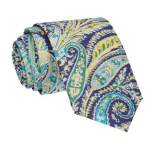Purple Multi Paisley Felix Liberty Cotton Tie