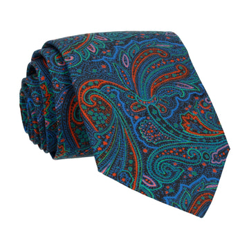 Multicolour Paisley Leibnitz Liberty Cotton Tie