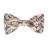 Grey Floral Alice Liberty Cotton Bow Tie
