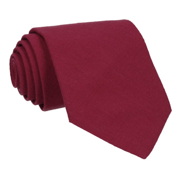 Burgundy Wine Plain Textured Cotton Tie