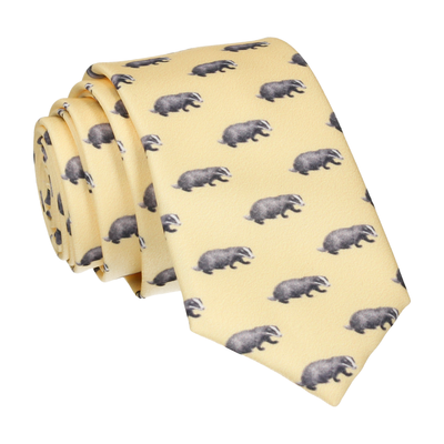 Lemon Yellow Badgers Tie