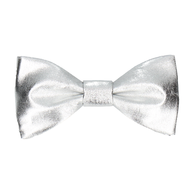 Metallic in Silver Bow Tie