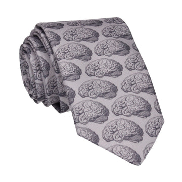 Grey Medical Psychology Brains Tie