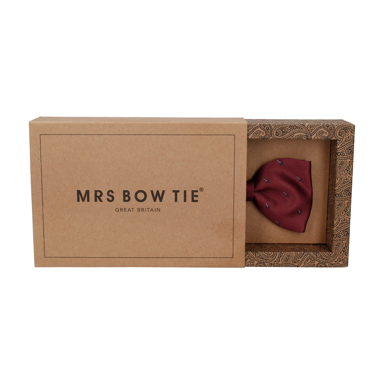 Pixel Sword Burgundy Red Bow Tie