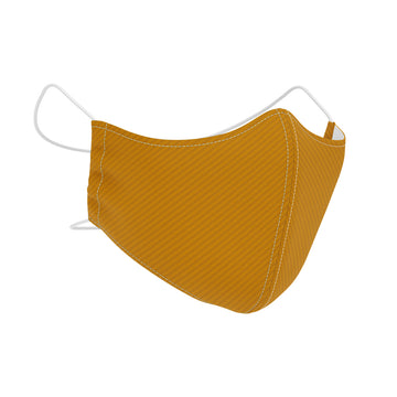 Mustard Soft Stripe SilverPlus Antimicrobial Face Mask