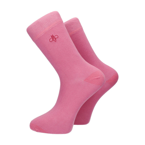 Oxbridge Cotton Socks (Pink Berry)