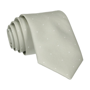 Sage Green Mini Pin Dots Tie
