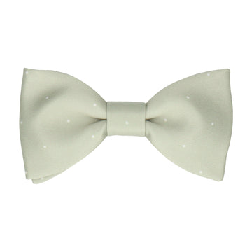 Sage Green Mini Pin Dots Bow Tie