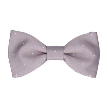 Silver Lavender Dusk Mini Pin Dots Bow Tie
