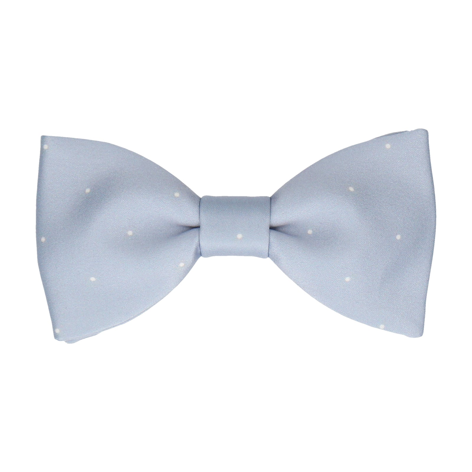 Dusty Light Blue Mini Pin Dots Bow Tie
