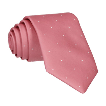 Deep Rose Pink Mini Pin Dots Tie