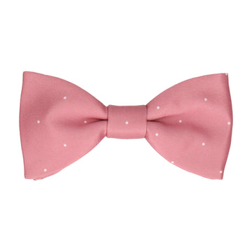 Deep Rose Pink Mini Pin Dots Bow Tie