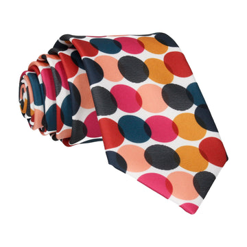 Pink & Teal Contemporary Dots Tie