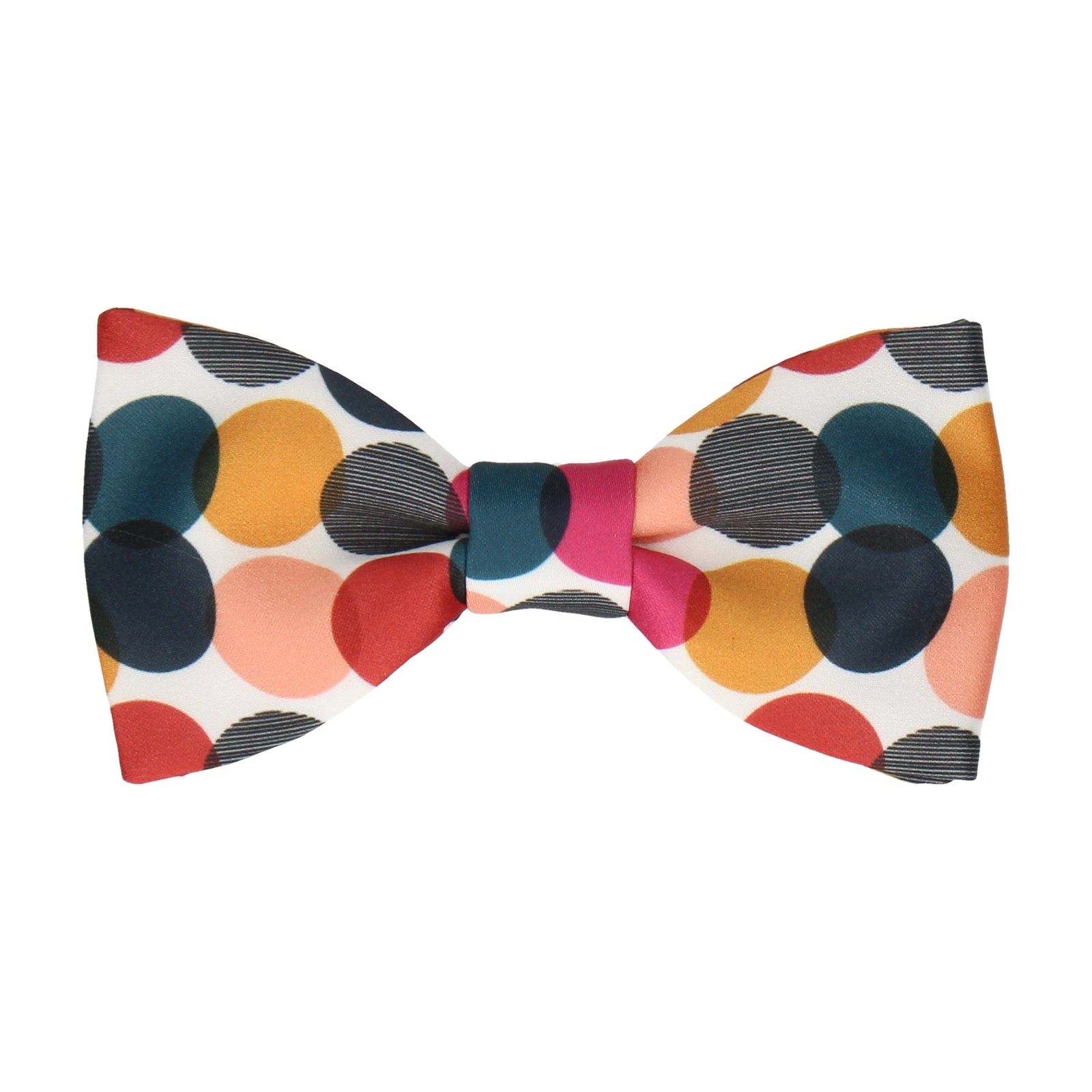 Pink & Teal Contemporary Dots Bow Tie