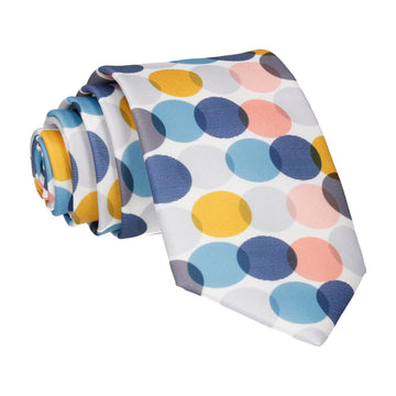 Blue & Grey Contemporary Dots Tie