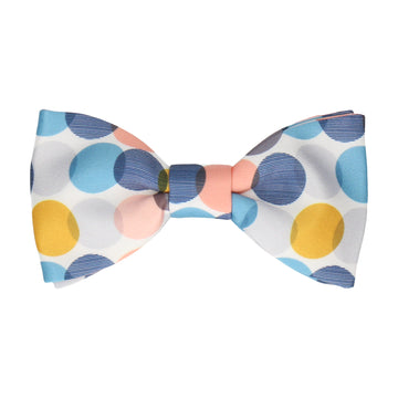 Blue & Grey Contemporary Dots Bow Tie