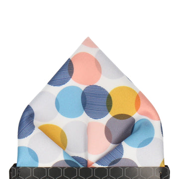 Blue & Grey Contemporary Dots Pocket Square
