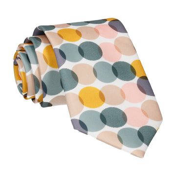 Green & Gold Contemporary Dots Tie
