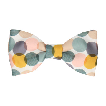 Green & Gold Contemporary Dots Bow Tie