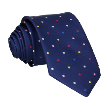 Colour Dots Blue Tie
