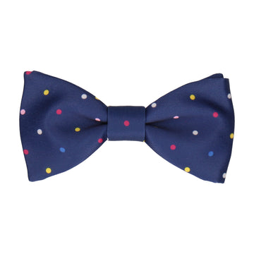 Colour Dots Blue Bow Tie