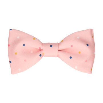 Colour Dots Pink Bow Tie