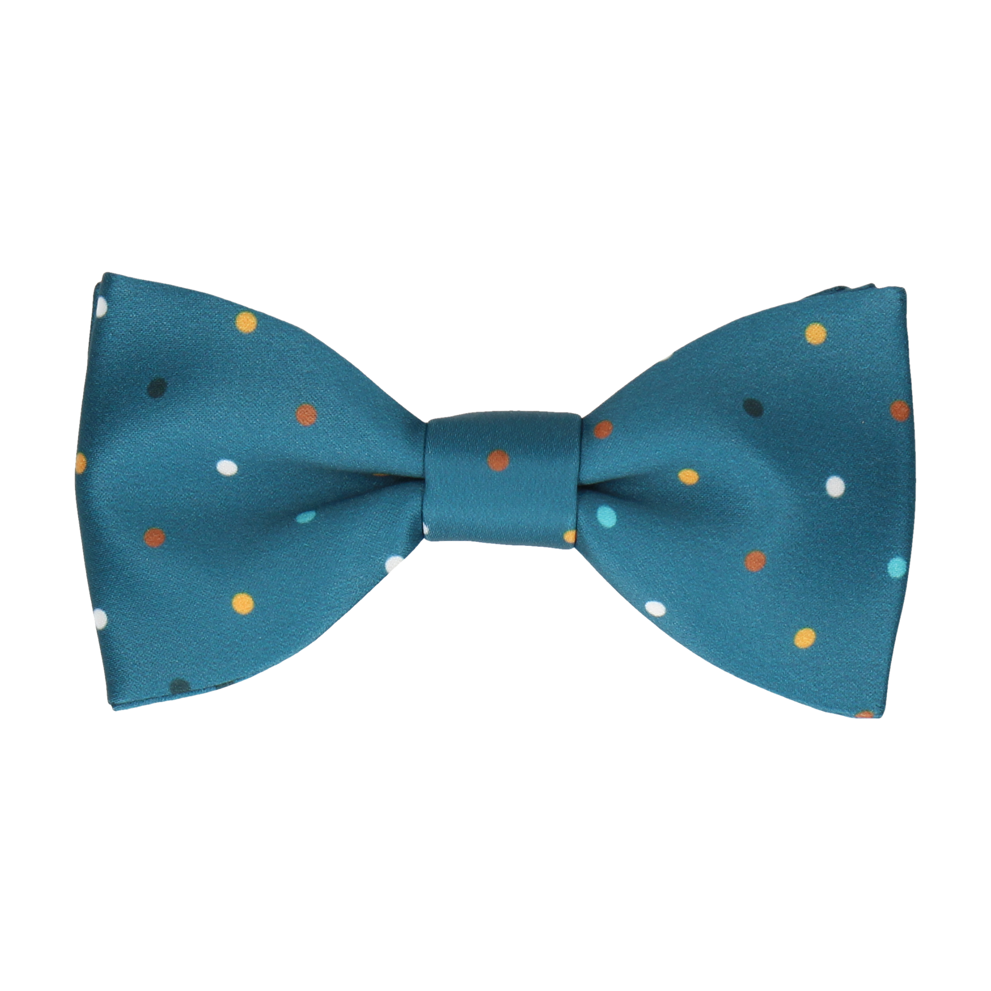 Colour Dots Teal Bow Tie